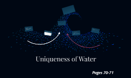 Ch. 6 L3: Uniqueness of Water