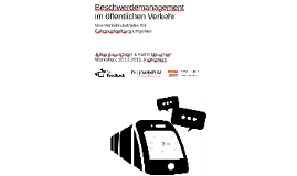 Beschwerdemanagement im Öffentlichen Verkehr