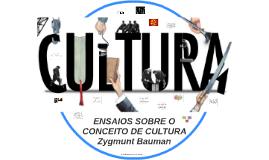 REA: O CONCEITO DE CULTURA em Zygmunt Bauman