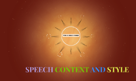 SPEECH CONTEXT AND STYLE
