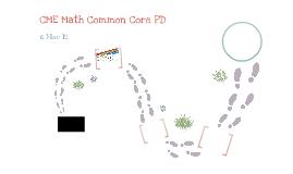 Math Common Core PD - 6 Nov 12