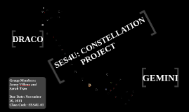 Copy of SES4U: Constellation Project