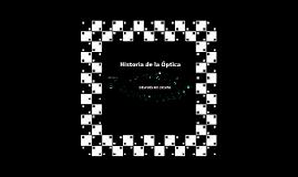 Linea de Tiempo Historia de la ÓPTICA