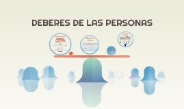 DEBERES DE LAS PERSONAS