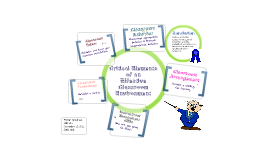 Critical Elements of an Effective Classroom Environment