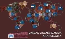 Copy of UNIDAD 2: CLASIFICACION ARANCELARIA