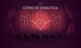 CURSO DE DIDACTICA