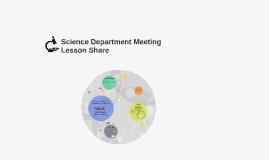 Sceince Department Meeting