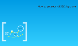 How to get your AIESEC Signature Correctly