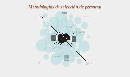 Metodologías de selección de personal