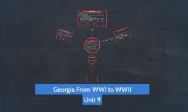 Georgia From WWI to WWII