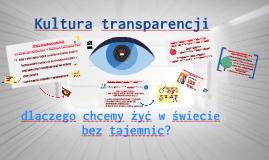 Kultura transparencji