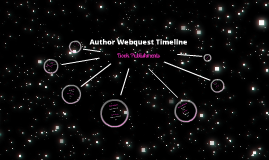 Author Webquest Book Publishments Timeline