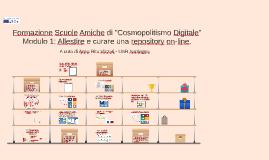 Formazione Scuole Amiche - Modulo 1: Allestire e curare una repository on-line.