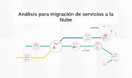 Análisis para migración de servicios a la Nube
