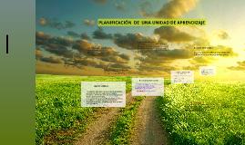 PLANIFICACIÓN  DE  UNA UNIDAD DE APRENDIZAJE