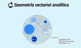 Geometría vectorial analítica