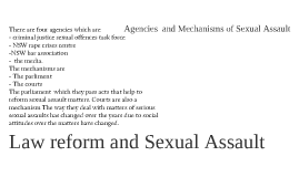 Law Reform and Sexual Assault