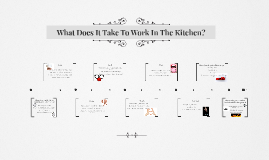 What Does It Take To Work In The Kitchen?