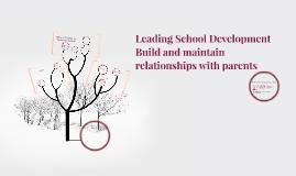Leading School Development
