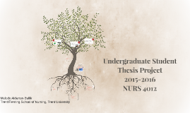 Undergraduate Thesis ProjectNURS 4012