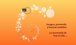 Imagen, protocolo y buenas modales