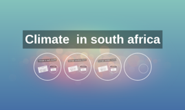Climate  in south africa