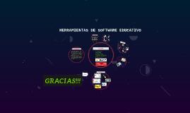 HERRAMIENTAS DE SOFTWARE EDUCATIVO