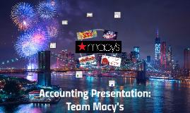 Accounting Presentation: