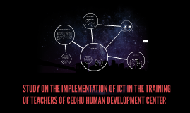 STUDY ON THE IMPLEMENTATION OF ICT IN THE TRAINING OF TEACHE