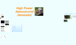 High Power Nanosecond Generator