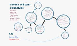 Comma and Semi-colon Prezi