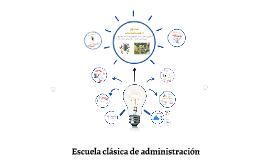 Escuela clasica de administración