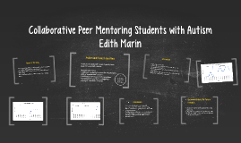 Collaborative Peer Mentoring Students with Autism