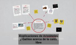 Explicación de Aristóteles y Galileo acerca de la caída libr
