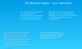 Byzantine Empire - Law And Justice
