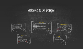 Welcome to 3D Design 1!
