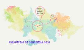 PROPUESTAS DE CONSEJERÍA 2015