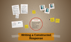 Writing a Constructed Resonponse