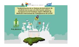 Indicadores de Medición XI Encuentro RTA 2016