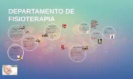 DEPARTAMENTO DE FISIOTERAPIA