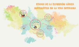 ETAPAS DE LA EXPRESIÓN LÓGICA MATEMÁTICA EN LA VIDA COTIDIAN
