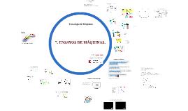 Tecnología de Máquinas - Ensayos de Máquinas