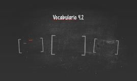 Vocabulario 4.2