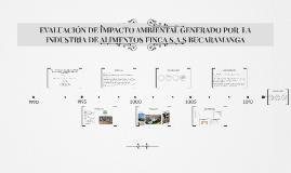 EVALUACIÓN DE IMPACTO AMBIENTAL GENERADO POR  LA INDUSTRIA D