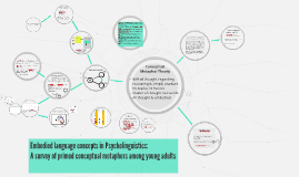 Psycholinguistic analysis of the Embodied Conceptual Metapho