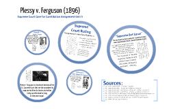 PLESSY v. FERGUSON (1896)