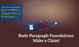 Body Paragraph Foundations