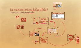 Transmission de la Bible