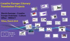 Creative Europe: Literary Translation Projects - Marzia Santone